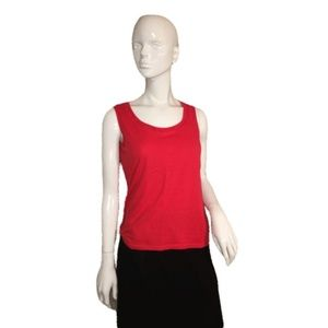 Talbots Sleeveless Top Red Size Small (SKU 000137)